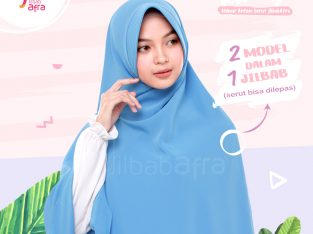 Khimar Khansa Dusty Blue