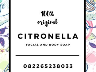 Citronella facial & body soap