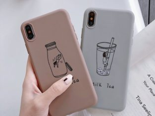 Soft Case Couple Milk Tea