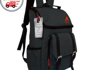 Backpack Korea MG015 Kanvas Dark Grey