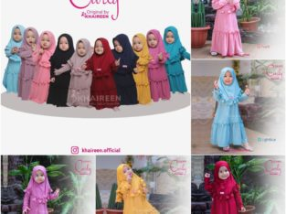Gamis anak/couple – gamis curly by khaireen (LTN)