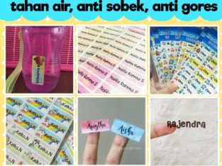 Stiker Label Nama Tahan Air/Waterproof