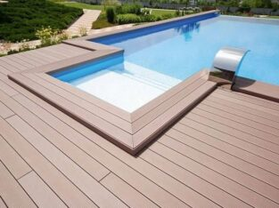 WPC outdoor Decking, motif kayu anti rayap