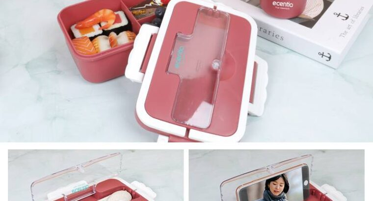 Ecentio lunch box set with handle LBHE-7501 1000ml